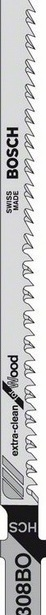 фото Набор пилок для лобзика Bosch Т 308 ВO HCS. Количество предметов: 5