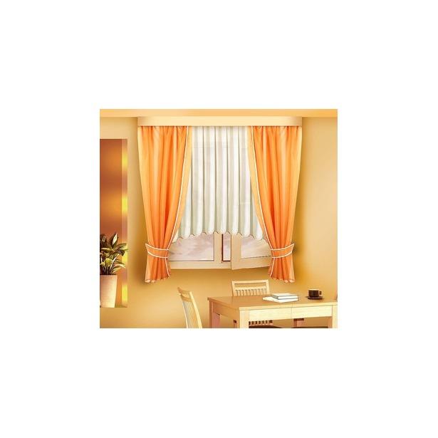 фото Комплект штор Zlata Korunka Kornelia. Цвет: оранжевый