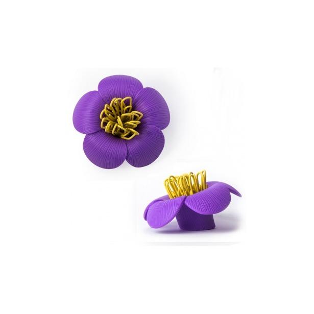 фото Магнит для скрепок Qualy Blossom. Цвет: фиолетовый