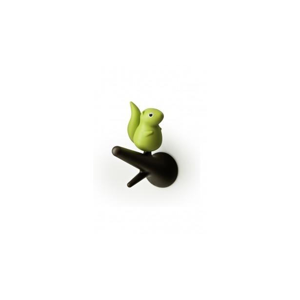 фото Вешалки настенные Qualy Squirrel. Цвет: зеленый, коричневый