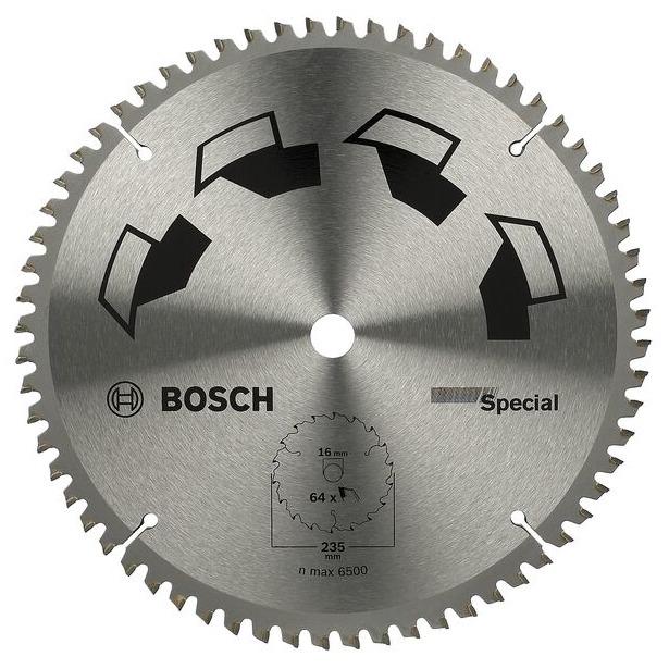 фото Диск отрезной Bosch Special. Диаметр диска: 230 мм. Количество зубьев: 64. Посадка: 30 мм
