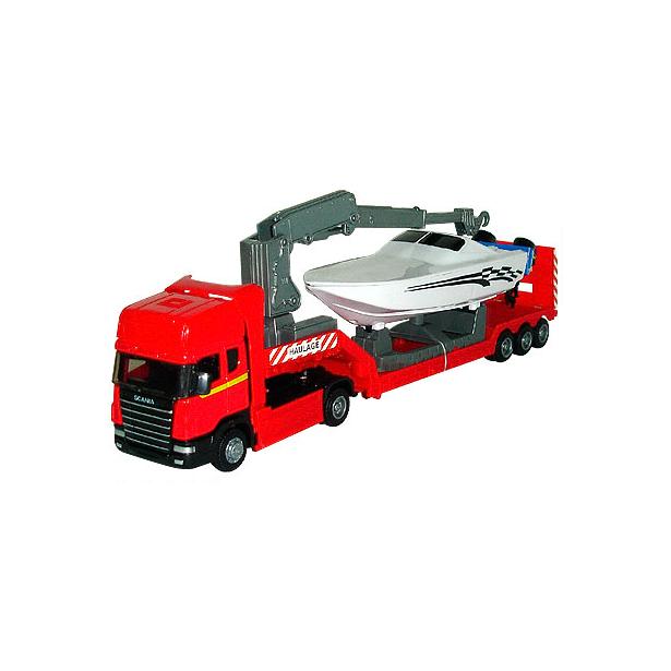 фото Модель автомобиля AUTOTIME Scania «С катером». В ассортименте