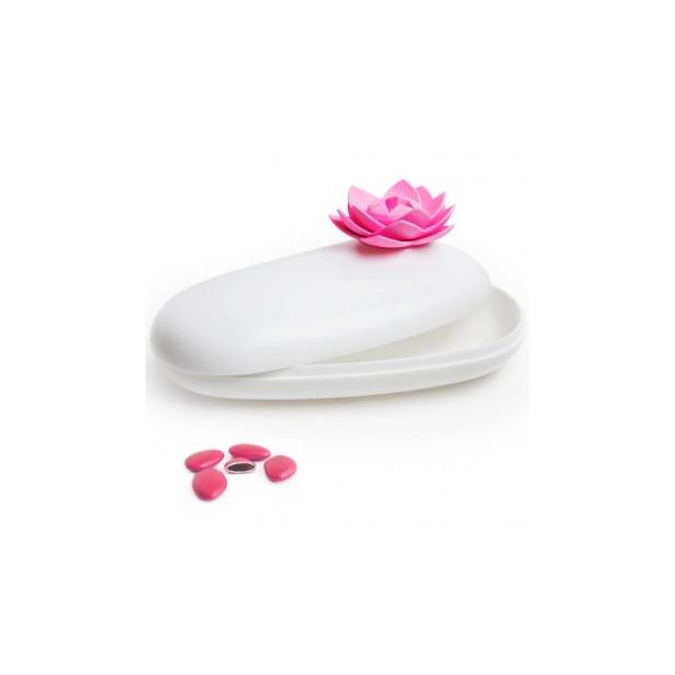 фото Шкатулка Qualy Lotus. Цвет: розовый, белый