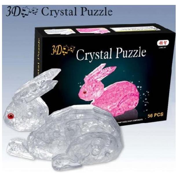 фото Кристальный пазл 3D Crystal Puzzle «Кролик». В ассортименте