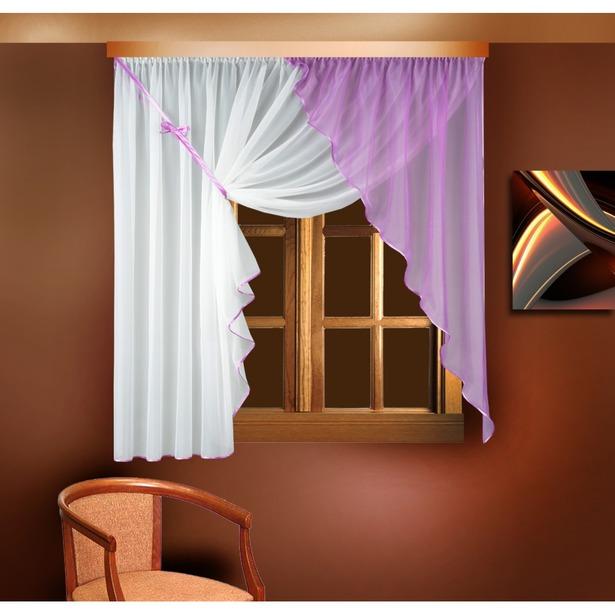 фото Комплект штор Zlata Korunka Б025. Цвет: сиреневый