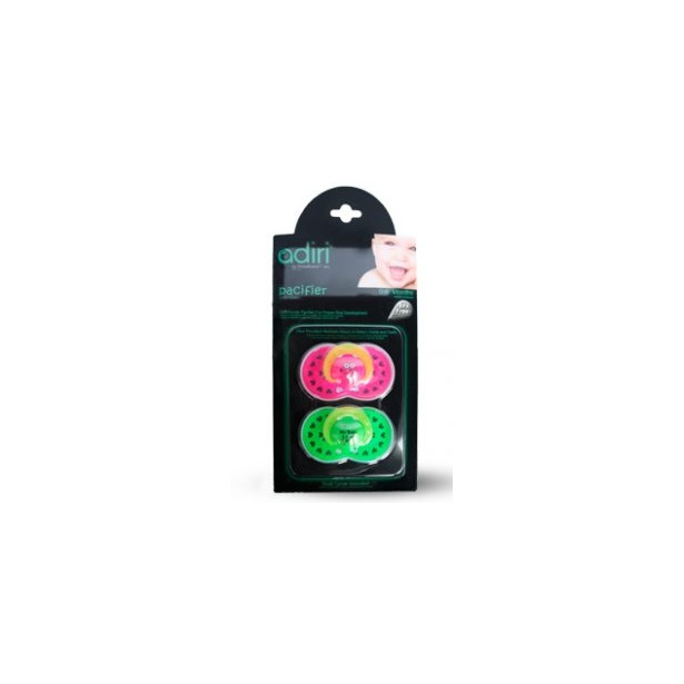 фото Пустышка Adiri Heart Pacifiers. Цвет: розовый, зеленый. Возрастная группа: от 0 до 6 месяцев