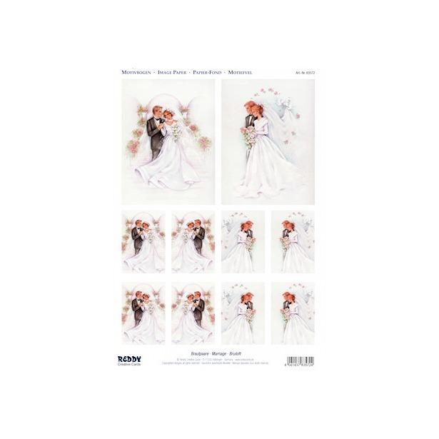 фото Аппликация вырубная для объемных рисунков Reddy Creative Cards «Жених и невеста»