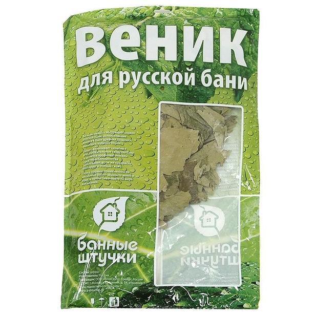 фото Веник дубовый с полынью Банные штучки в упаковке