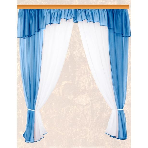 фото Комплект штор Zlata Korunka Licynia. Цвет: голубой