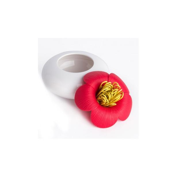 фото Шкатулка для мелочей Qualy Blossom. Цвет: белый, розовый