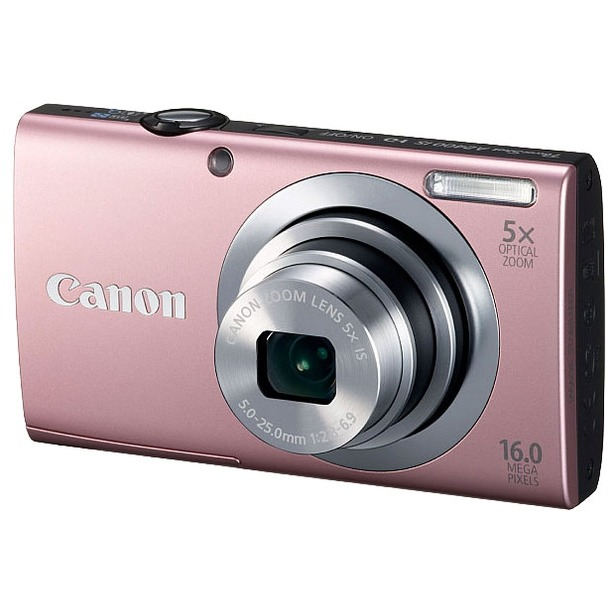 фото Фотокамера цифровая Canon PowerShot A2400 IS. Цвет: розовый