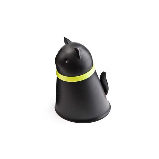 фото Контейнер и миска для кошки Qualy Kitt. Цвет: черный