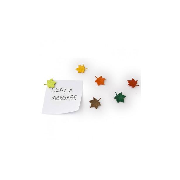 фото Набор из 6-ти магнитов Qualy Leaf a Message
