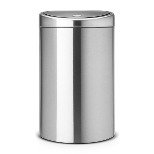 фото Бак для мусора двухсекционный Brabantia Touch Bin