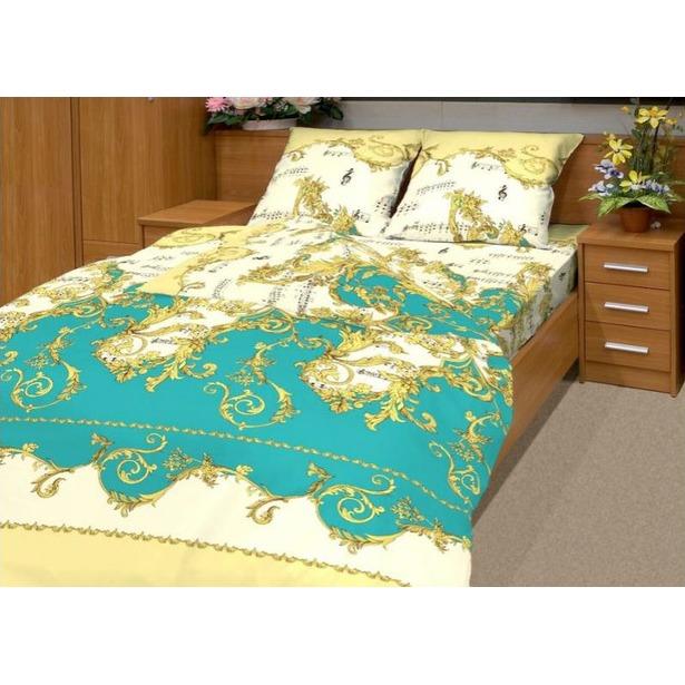 фото Комплект постельного белья Матекс «Ноктюрн». 1,5-спальный, бирюзовый