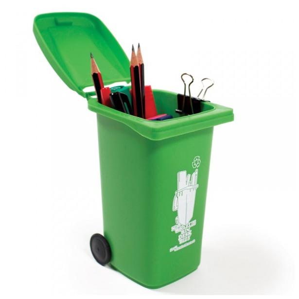 фото Органайзер для рабочего стола Luckies Wheelie Bin. Цвет: зеленый