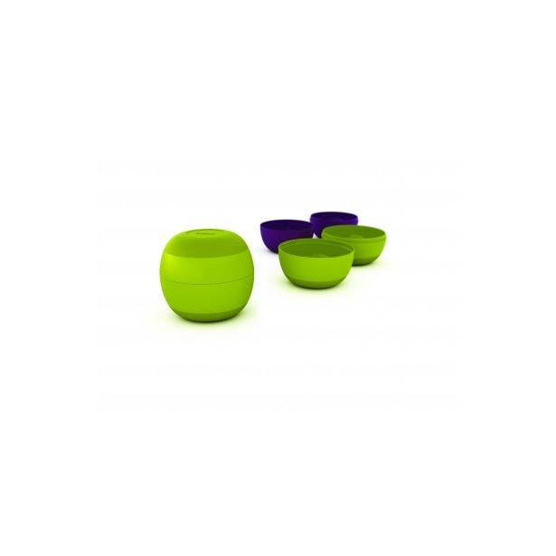 фото Набор-матрешка из 4-х мисок Joseph Joseph Prep&Store. Цвет: фиолетовый, зеленый