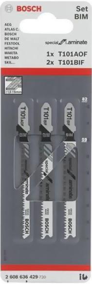 фото Набор пилок для лобзика Bosch T 101 ВIF/T 101AOF