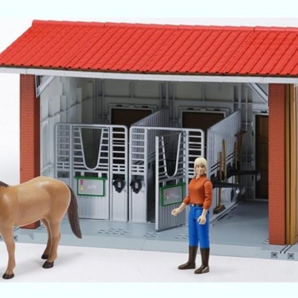 фото Игровой набор Bruder Конюшня с всадницей и лошадью 62-520