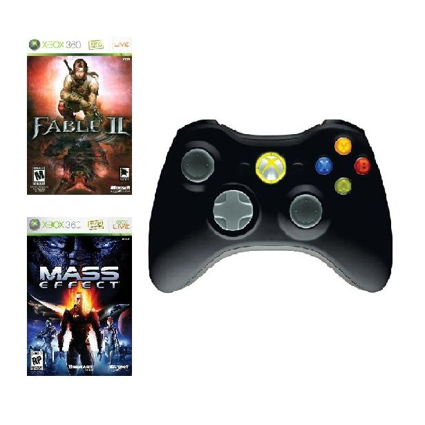 фото Набор из беспроводного геймпада для Microsoft Xbox 360, Fable 2 и Mass Effect