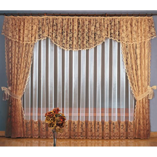 фото Комплект штор Wisan «Мария». Цвет: коричневый