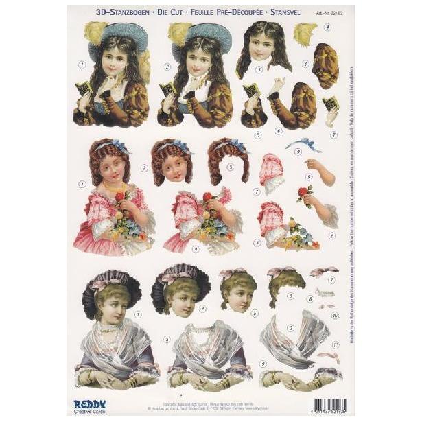 фото Аппликация бумажная вырубная Reddy Creative Cards «Детские портреты»