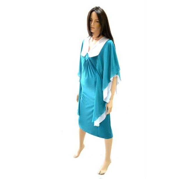 фото Платье Klimini «Чайка». Цвет: зеленый. Размер одежды: 48