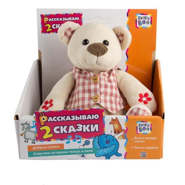 фото Мягкая игрушка интерактивная со сказками Kribly Boo Медвежонок Пузя подарочный
