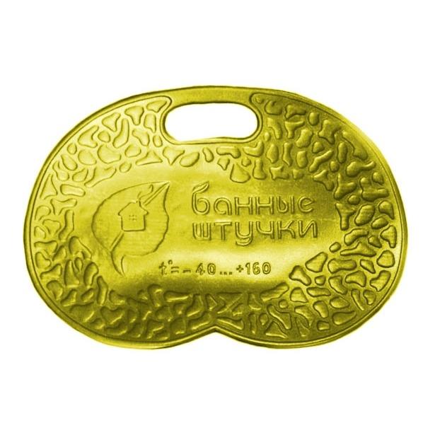фото Коврик банный с надписью «Банные штучки». Цвет: желтый
