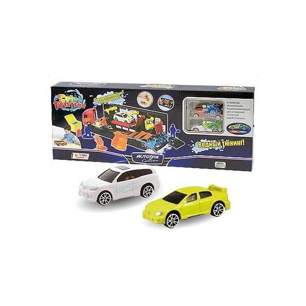 фото Модель автомобиля AUTOTIME Color Twisters Water Racing Transporter-1. С грузовиком