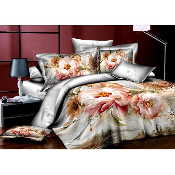фото Комплект постельного белья Аура «Жемчужный пион». 2-спальный