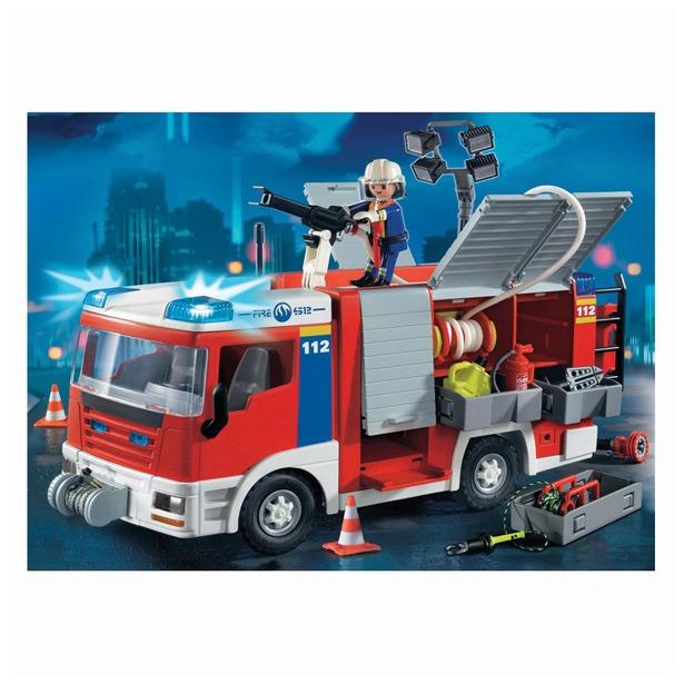 фото Пожарная служба:Пожарная машина со шлангом и съемной крышей Playmobil 4821pm