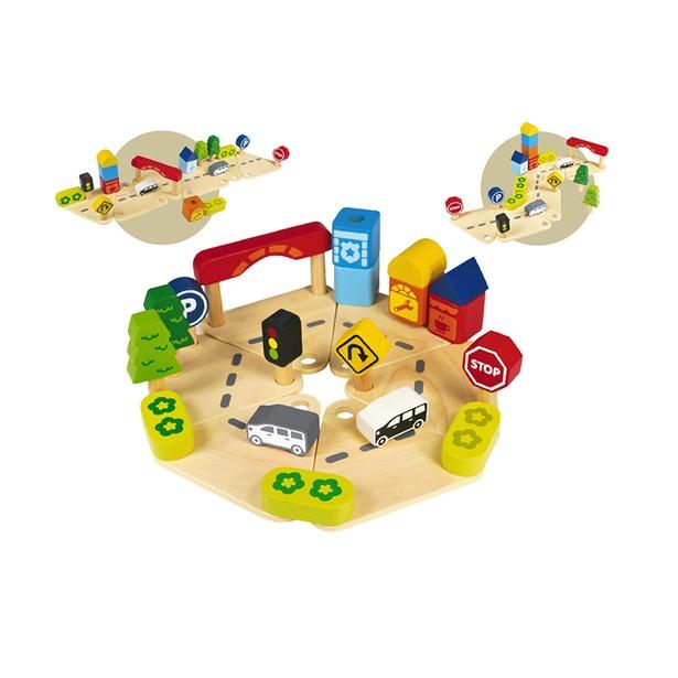 фото Конструктор деревянный I'm toy «Дорожное движение»