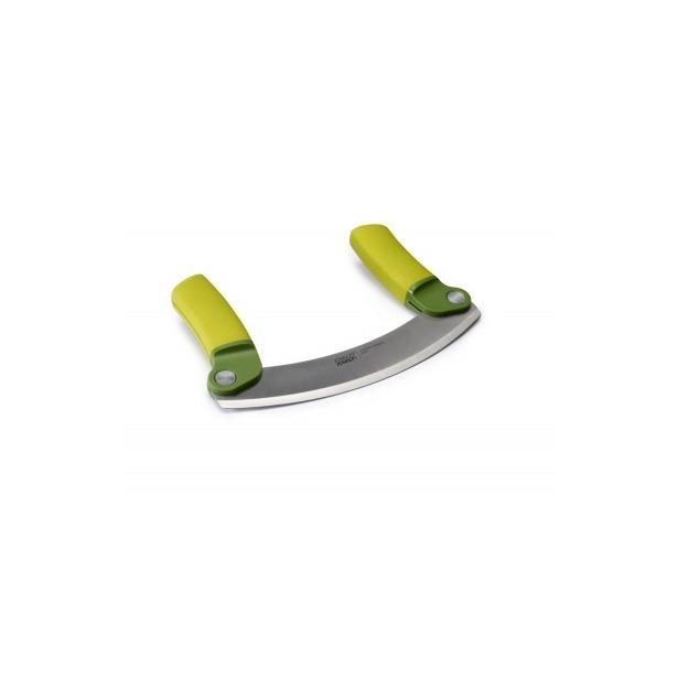 фото Нож для зелени складной Joseph Joseph Mezzaluna. Цвет рукояти: зеленый