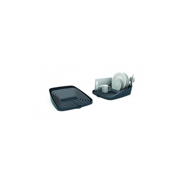фото Сушилка для посуды и столовых приборов со сливом Joseph Joseph Arena. Цвет: графит