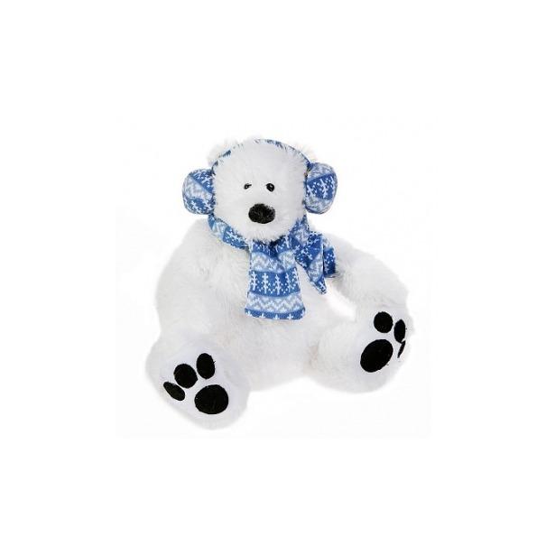 фото Мягкая игрушка Button Blue Мишка-полярник в наушниках