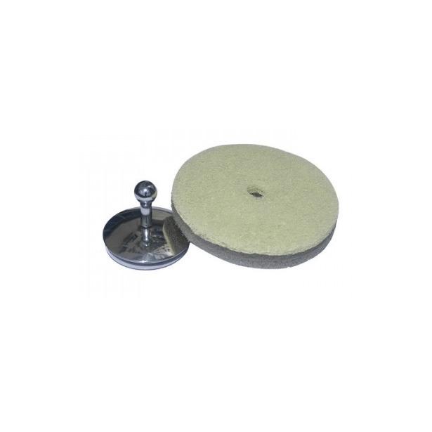 фото Губка универсальная и держатель на присоске Bosign Round. Цвет: серый, лайм
