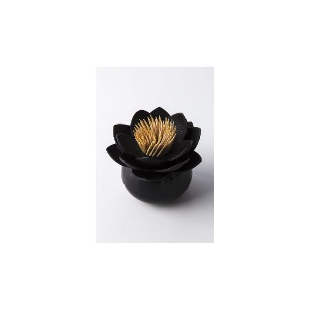 фото Держатель для зубочисток Qualy Lotus. Цвет: черный