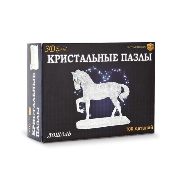 фото Кристальный пазл 3D Crystal Puzzle «Конь». В ассортименте