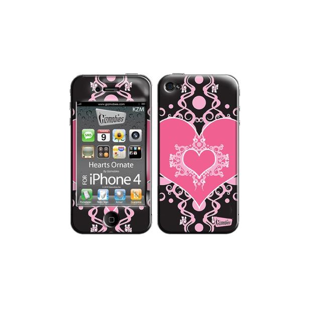 фото Наклейка 3D для iPhone 4G Gizmobies Hearts Ornate
