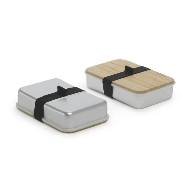 фото Бутербродница Black+Blum Sandwich Box. Цвет: серебристый
