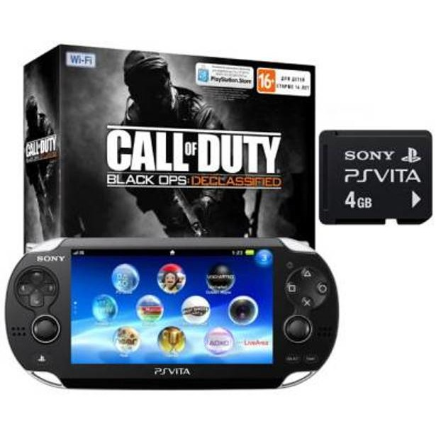 фото Игровая консоль SONY PlayStation Vita 4Gb Wi-Fi и код загрузки Call of Duty Declassified