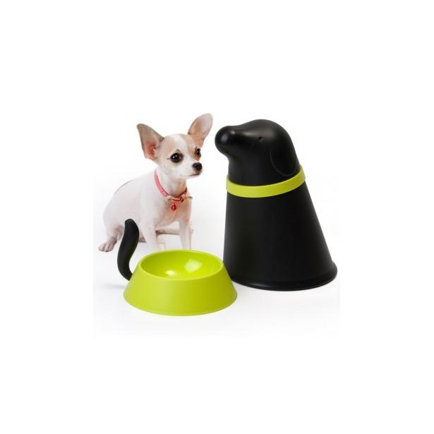 фото Контейнер и миска для собаки Qualy Pupp. Цвет: черный