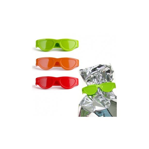 фото Клипсы для пакетов Qualy Bag Glasses. Цвет: красный, оранжевый, зеленый
