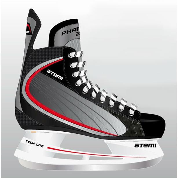 фото Коньки хоккейные ATEMI PHANTOM 2.0 RED. Размер: 37