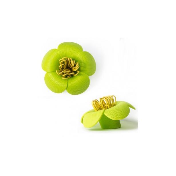 фото Магнит для скрепок Qualy Blossom. Цвет: зеленый
