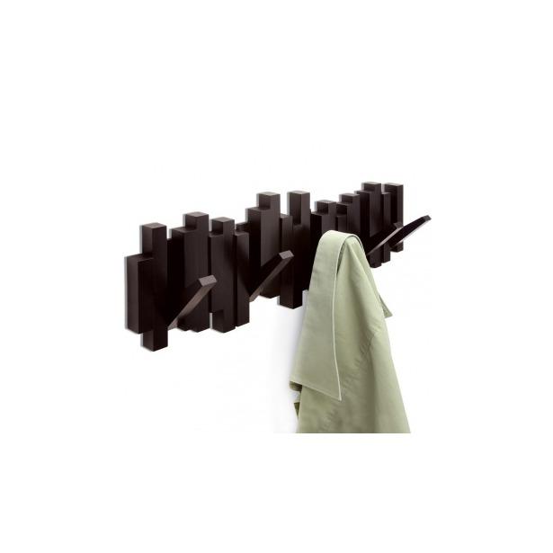 фото Вешалка настенная Umbra Sticks. Цвет: шоколадный