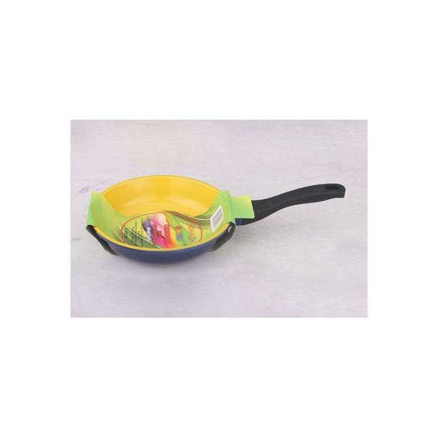 фото Сковорода литая Keraflon Dream без крышки. Диаметр: 24 см. Цвет: желтый, черный