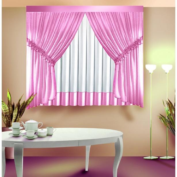фото Комплект штор Zlata Korunka Б089. Цвет: розовый