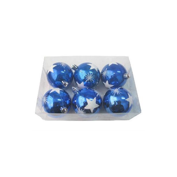 фото Шары новогодние Irit «Синие звезды»